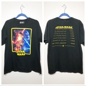 "Star Wars ""The Force Awakens"" Tee Black Size XL"